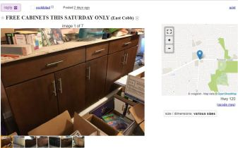 free kitchen cabinets