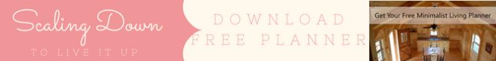 Free minimalist living planner banner1