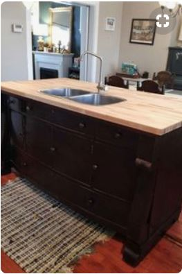 from dresser into island