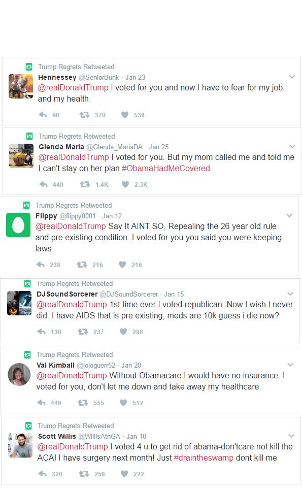 Healthcare Trump Regretters