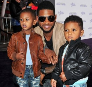 Usher with two sons