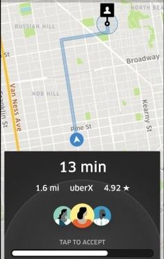 Uber Rider Accept