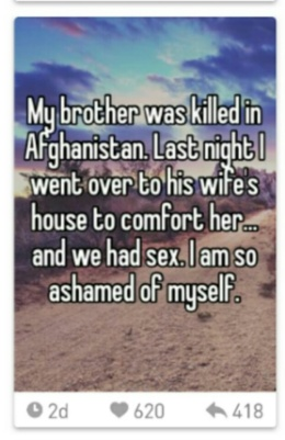 Slept with dead brothers wife