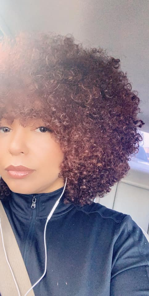 Afro with defined curls